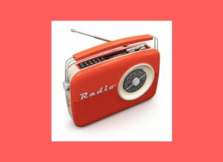 radio vintage rouge