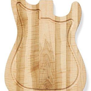 Planche à découper en forme de guitare électrique Fender Stratocaster® en érable flammée