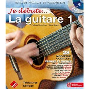 Méthode Je débute la guitare 1 - P. Heuvelinne et M. Rouvé- Ed. Hit Diffusion.