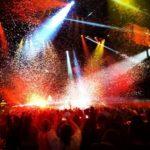 Jeu de lumières pendant un concert
