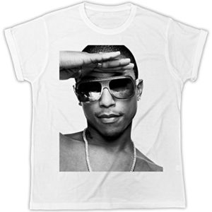 TShirt Pharrel Williams blanc manches courtes