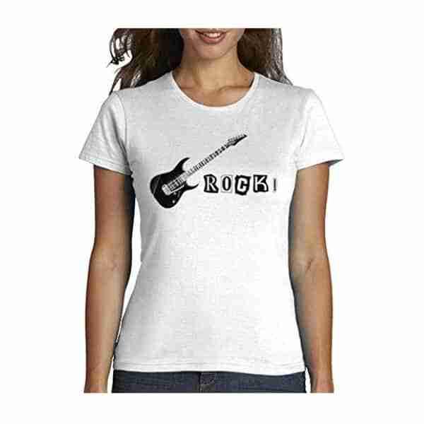 T-shirt femme Rock! motif guitare électrique Tostadora