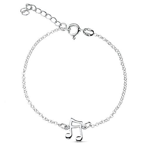bracelet note de musique en argent - Iyé Biyé Jewels