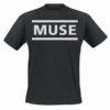T Shirt Muse Officiel Logo Imprimé (Noir)