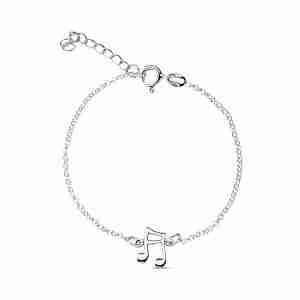 Bracelet Note de Musique argent pour femme